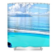 Infinity Pool And Ocean Shower Curtain
