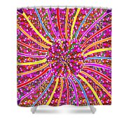 Infinity Star Flower An Abstract Fineart Expression By Navinjoshi At Fineartamerica.  Colorful Fun Shower Curtain
