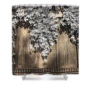 Infrared Botanical Sepia  Shower Curtain