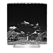 Infrared Farm Shower Curtain