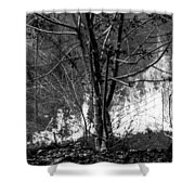 Infrared Flames In Costa Rica Shower Curtain