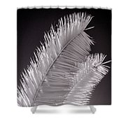 Infrared Palm Frond Shower Curtain