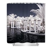 Infrared Pool Shower Curtain