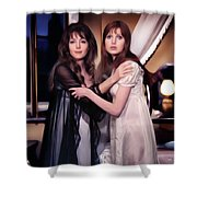 Ingrid Pitt And Madeline Smith Shower Curtain