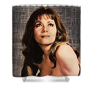 Ingrid Pitt, Vintage Actress Shower Curtain