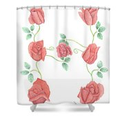 Initial H Shower Curtain
