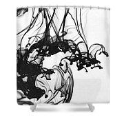 Ink II Shower Curtain