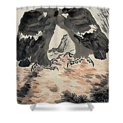 Ink Painting Eagle Shower Curtain