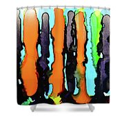 Ink Stripes Shower Curtain