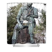 Inland Northwest Veterans Memorial Statue Shower Curtain