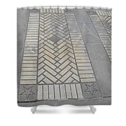 Inlayed Brick Walk Shower Curtain