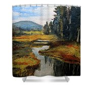 Inlet In Indian Lake Shower Curtain