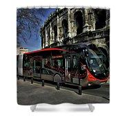 Inner City Tram Shower Curtain