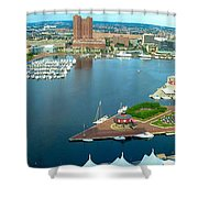Inner Harbor Baltimore Panorama Shower Curtain