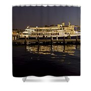 Inner Harbor Tour Boat Shower Curtain
