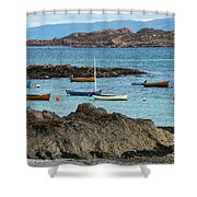 Inner Hebrides Transportaion Shower Curtain