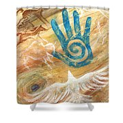 Inner Journey Shower Curtain by Brandy Woods