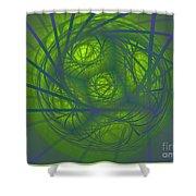 Inner Light Spiral Sanctum Shower Curtain