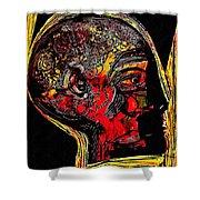 Inner Man Shower Curtain by Sarah Loft