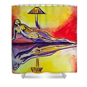 Inner Reflections Shower Curtain by Donna Blackhall