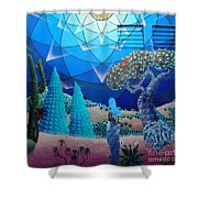 Inner Space-art On A Wall.  Shower Curtain