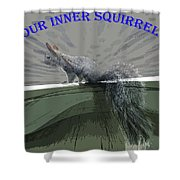 Inner Squirrel Art #1 Shower Curtain