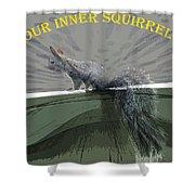 Inner Squirrel Art #2 Shower Curtain