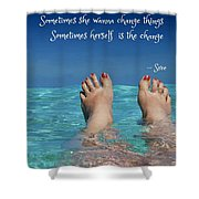 Innerthoughts Shower Curtain