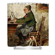 Innkeeper With A Cat Shower Curtain