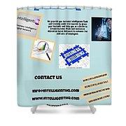 Innovation Social Business Network Shower Curtain