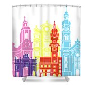 Innsbruck Skyline Pop Shower Curtain