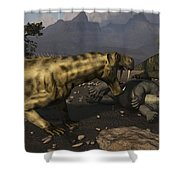 Inostrancevia Moving In On A Kill Made Shower Curtain