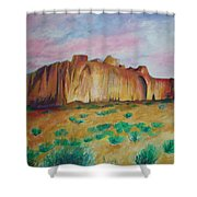 Inscription Rock  Shower Curtain