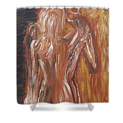 Inseparable Lovers Shower Curtain