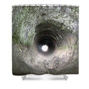 Inside A 20mm Submarine Deck Gun Barrel Shower Curtain