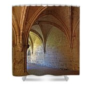 Inside A Monastery Dordogne France  Shower Curtain