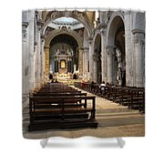 Inside Beautiful Church In Rome Shower Curtain