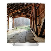 Inside Big Rocky Fork Bridge Shower Curtain