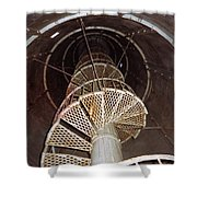 Inside Looking Up - Matagorda Island Lighthouse Shower Curtain