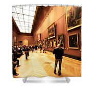 Inside Louvre Museum  Shower Curtain by Charuhas Images