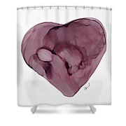 Inside My Heart Shower Curtain