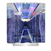 Inside Of New Bus  Shower Curtain