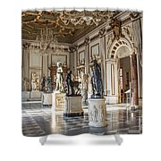 Inside One Of The Rooms Of The Capitoline Museums In Rome, Italy  Shower Curtain