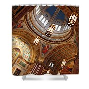 Inside Saint Matthew's Cathedral -- At An Angle Shower Curtain