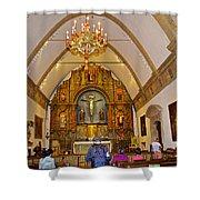 Inside Sanctuary At Carmel Mission-california  Shower Curtain
