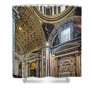 Inside St Peter's Basilica Rome Shower Curtain