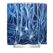 Inside The Brain Shower Curtain