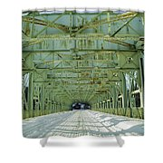 Inside The Falls Bridge - Winter Shower Curtain