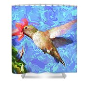 Inside The Flower - Impressionism Finish Shower Curtain