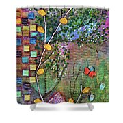 Inside The Garden Wall Shower Curtain